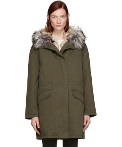 Army by Yves Salomon | Green Fur-Lined Parka