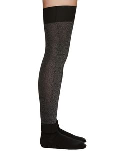 Sara Lanzi | Silver And Black Lurex Leg Warmers