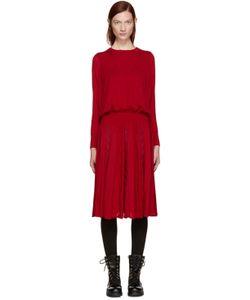 Harikae | Red Knit Pleated Dress