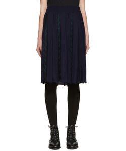 Harikae | Navy Knit Pleated Skirt