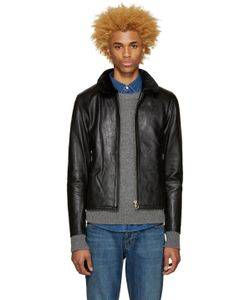 Nanamica | Black Leather Cruiser Jacket