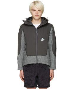 AND WANDER   Twill Fleece Jacket
