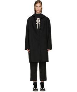 Sara Lanzi | Black Hooded Coat