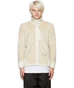 AND WANDER   Off-White Fleece Jacket