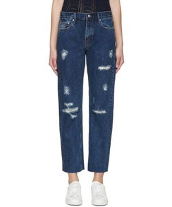 Earnest Sewn | Blue High-Rise Victoria Jeans