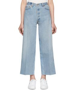 RE-DONE | Wide-Leg Cropped Jeans