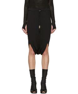 BORIS BIDJAN SABERI | Black Jersey Sarouel Shorts