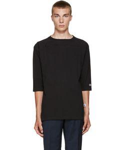 Champion x Beams | Black Heavy Jp Jersey Zip T-Shirt