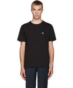 Champion x Beams | Black Jersey Zip T-Shirt