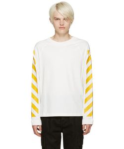 Moncler x Off-White | White Striped Sleeves T-Shirt