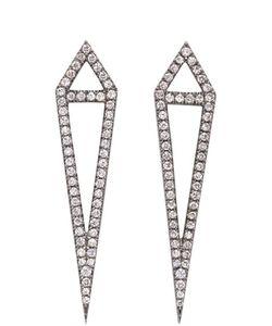 Eva Fehren | Blackened Gold Diamond Dagger Earrings