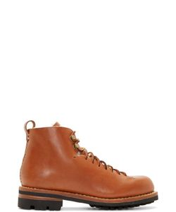 Feit | Brown Leather And Wool Hiker Boots