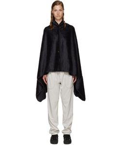 AND WANDER   Navy Fleece Stowaway Blanket