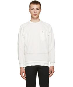 AND WANDER   Off-White Zip Pocket Pullover