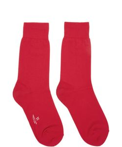 Ys | Red Solid Socks
