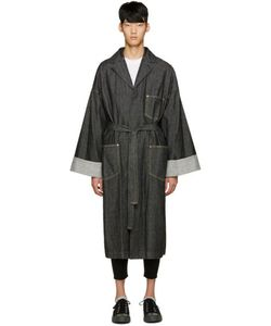 ganryu | Black Denim Trench Coat
