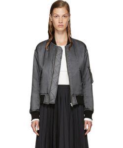 Noir Kei Ninomiya | Grey Organdy Bomber Jacket