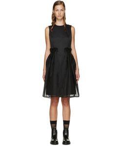Noir Kei Ninomiya | Black Chiffon Overlay Dress