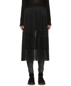 Sara Lanzi | Black Pleated Silk Skirt