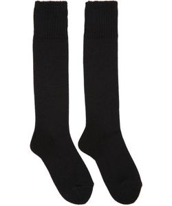 Hyke | Black Knit Socks