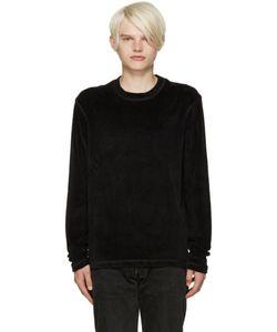 Fanmail | Black Velour Pullover