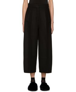 Cyclas | Black Curved Form Culottes