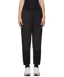 AND WANDER | Black Twill And Fleece Lounge Pants