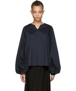 Cyclas | Navy Smock Blouse