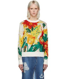 Writtenby | Multicolor Floral Knit Sweater