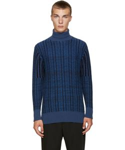 Curieux | Ssense Exclusive Blue Cashmere Turtleneck