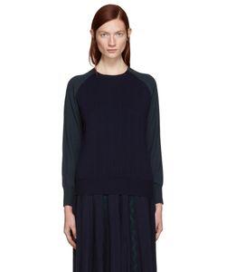 Harikae | Navy And Green Wool Pullover