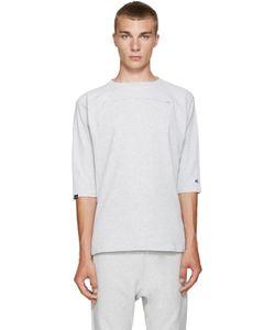 Champion x Beams | Grey Heavy Jersey Zip T-Shirt