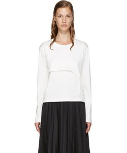 Noir Kei Ninomiya | White Asymmetric Layered T-Shirt
