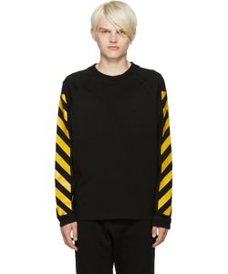 Moncler O | Black Striped Sleeves T-Shirt