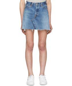 RE-DONE | High-Rise Denim Miniskirt