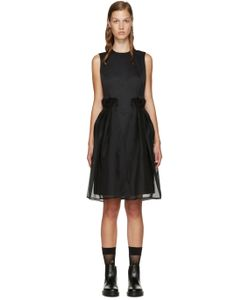 Noir Kei Ninomiya | Black Chiffon Overlay Dress