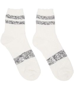 ganryu | White And Black Stripe Socks