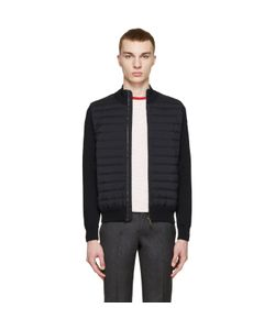Moncler | Navy Quilted Panel Jacket
