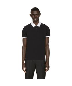 Moncler | Black Contrast Collar Polo