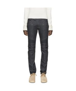 Balmain | Indigo Raw Biker Denim