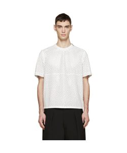 Givenchy | White Perforated Leather T-Shirt