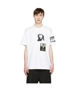Givenchy | White Distressed Jesus Patches T-Shirt