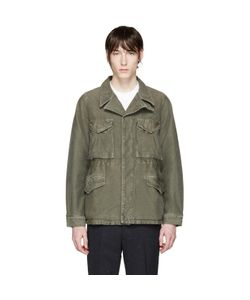 Visvim | Green Damaged Military Jacket