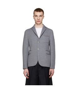 Moncler Gamme Bleu | Grey Neoprene Blazer