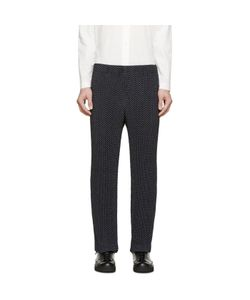 HOMME PLISSE ISSEY MIYAKE | Homme Plissé Issey Miyake Navy Pleated And Printed Trousers