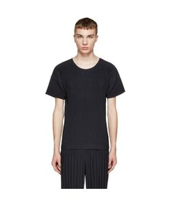 HOMME PLISSE ISSEY MIYAKE | Homme Plissé Issey Miyake Navy Pleated T-Shirt