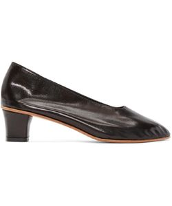 Martiniano | Black Leather High Glove Heels
