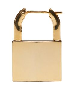 LAUREN KLASSEN | Gold Padlock Single Earring