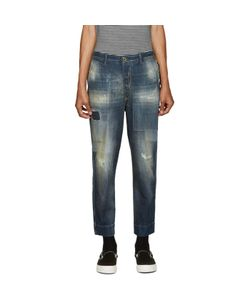 Diesel | Blue Distressed Carrot Chino Jeans