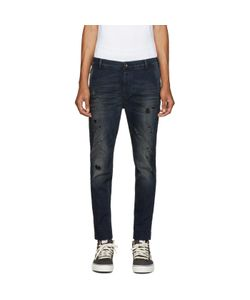 Diesel | Blue Distressed Slim Chino Jeans
